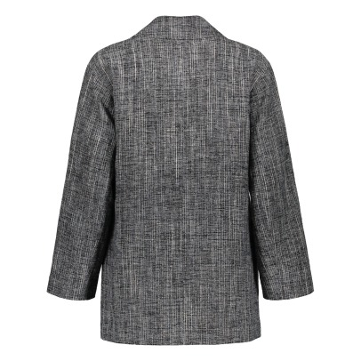 Masscob Checked Linen Blazer-listing