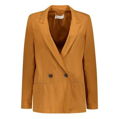 Veste lin femme marron