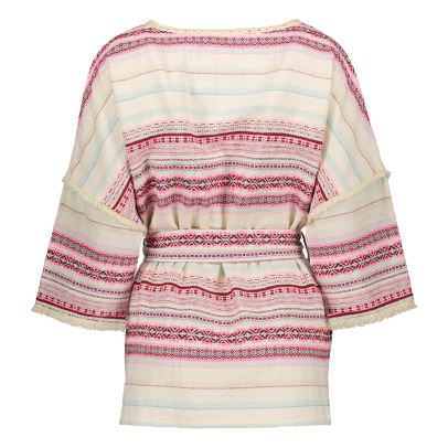 Louise Misha Honey Striped Kimono Jacket - Women's Collection-listing