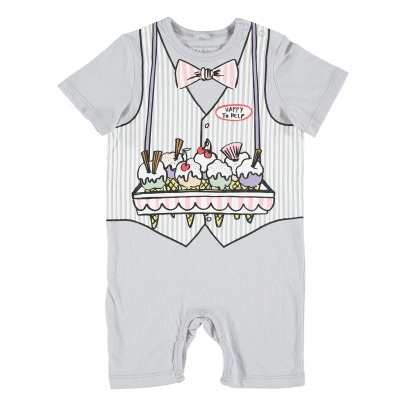 Stella McCartney Kids Ice Cream Vendor Organic Cotton Jumpsuit-listing