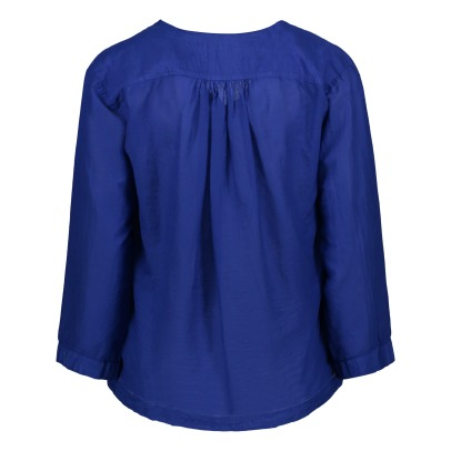 Pomandère Cotton and Silk Long Sleeve Blouse-listing