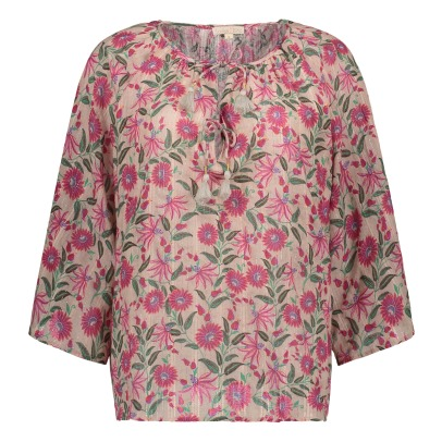 Louise Misha Matangi Floral Lurex Blouse - Women's Collection-listing