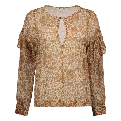 Masscob Flower Cotton and Silk Blouse-listing