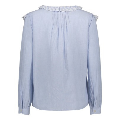 Leon & Harper Cookie Ruffled Embroidered Blouse-listing