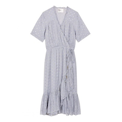 Leon & Harper Requiem Dot Belted Maxi Dress-listing