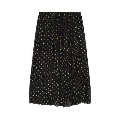 Leon & Harper Jelly Dot Ruffled Maxi Skirt-listing