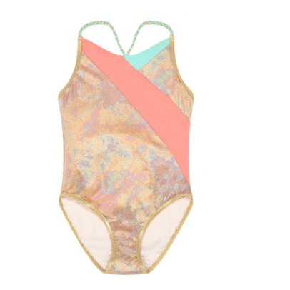 Little Marc Jacobs 1 Piece Swimsuit with Woven Straps-product