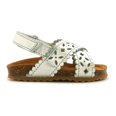 Pèpè Two Con Me - Velcro Crossed Leather Sandals-listing