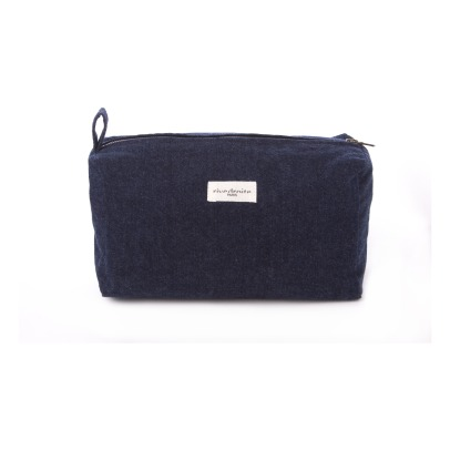 Rive Droite Alma Recycled Denim Toiletry Bag-listing