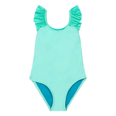 Lison Paris Iridescent Ruffled Plain 1 Piece Swimsuit-listing