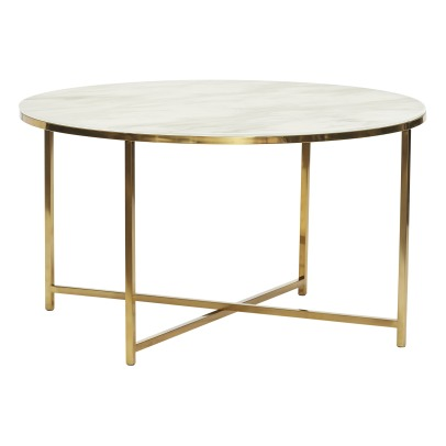 Hübsch Marble Round Coffee Table-listing