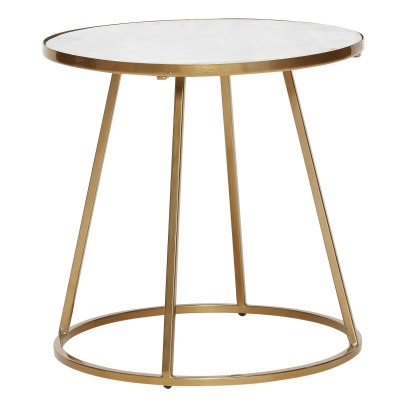 Hübsch Round Marble Side Table-listing