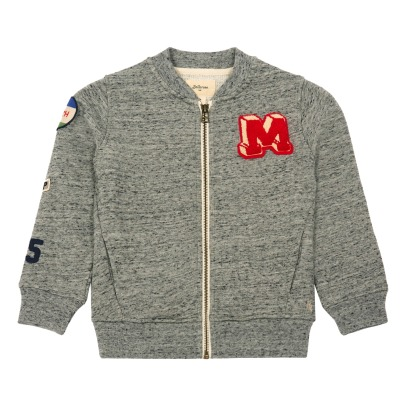 Bellerose Beat Patch Zip-Up Baseball Jacket-listing