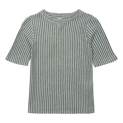Bellerose Camel Striped T-Shirt-listing