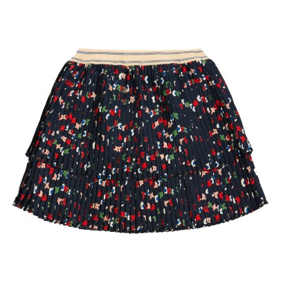 Bellerose Linted Pleated Print Skirt-listing