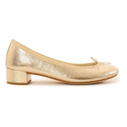 Repetto Camille Metallic Calf Leather High Heel Ballerinas-listing