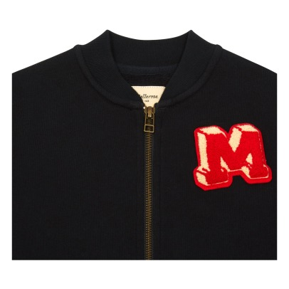 Bellerose Beast Patch Zip-Up Baseball Jacket-listing