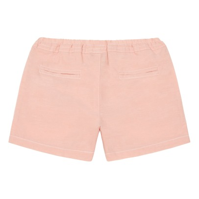 Little Karl Marc John Large Pockets Chambray Shorts-listing