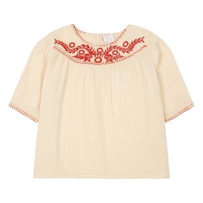 Little Karl Marc John Chiapy Embroidered Floral 3/4 Sleeve Blouse-listing
