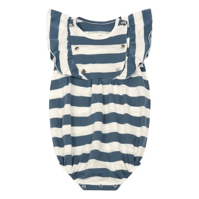 Louis Louise Body jersey a righe con volants Moineau-listing