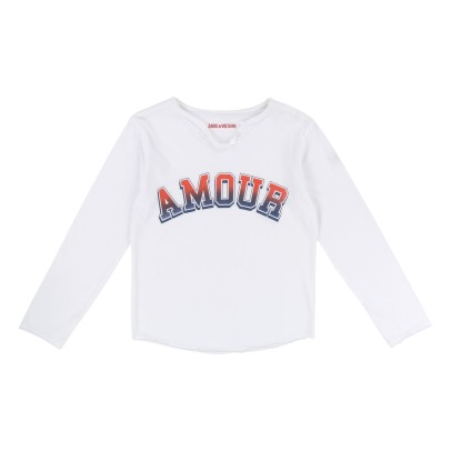 Zadig & Voltaire Boxo Henley Neck T-shirt Amour-listing