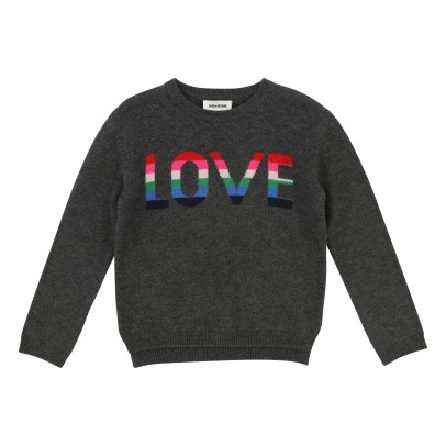 Zadig & Voltaire Pull Laine Cachemire Love Drum-listing