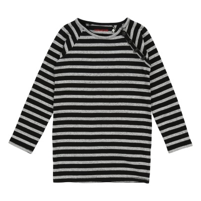 Zadig & Voltaire Striped Thunderbolt Patches Dress-listing