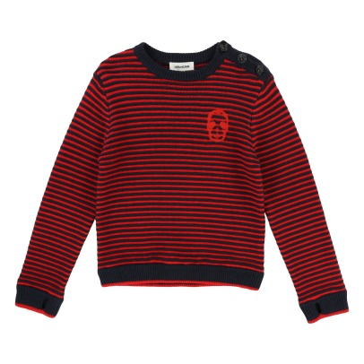 Zadig & Voltaire Striped Wool and Cotton Jumper -listing