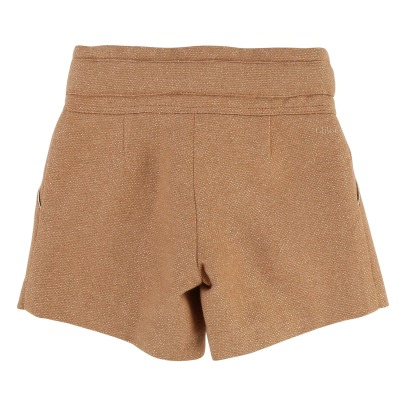 Chloé Elasticated Waisted Lurex Shorts -listing