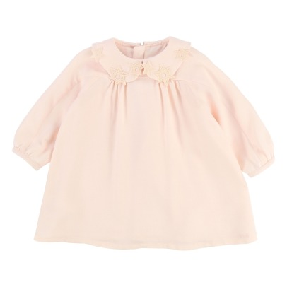 Chloé Embroidered Stars Peter Pan Collar Blouse-listing