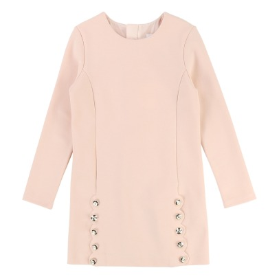 Chloé Robe Droite Milano Boutons Gravés-product