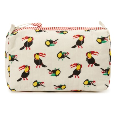 Le Petit Lucas du Tertre Toucans Cotton Round Toiletry Bag-listing