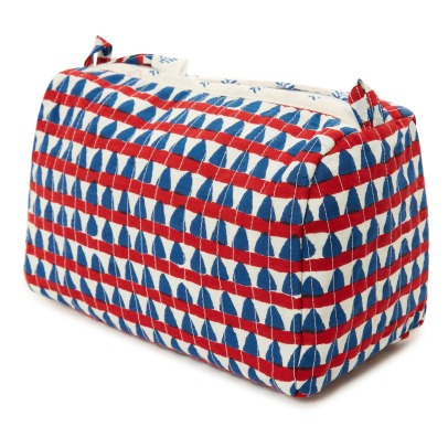 Le Petit Lucas du Tertre Triangles Cotton Round Toiletry Bag-listing