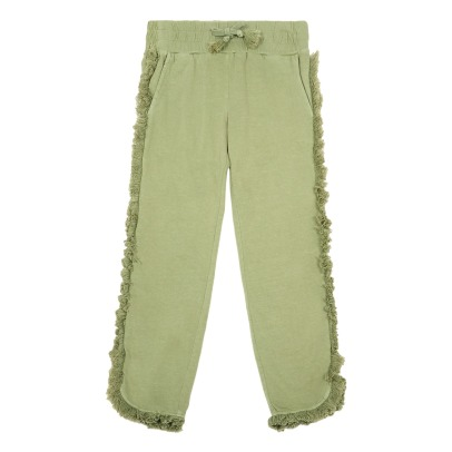 Stella McCartney Kids Tallulah Fringed Recycled Cotton Jogging Bottoms-listing