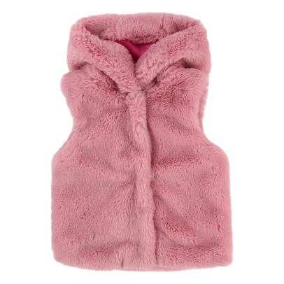 Little Marc Jacobs Faux-Fur Hooded Jacket-listing