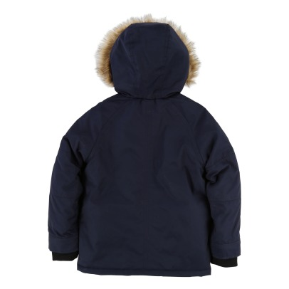 Little Marc Jacobs Furred Linen Waterproof Jacket -product