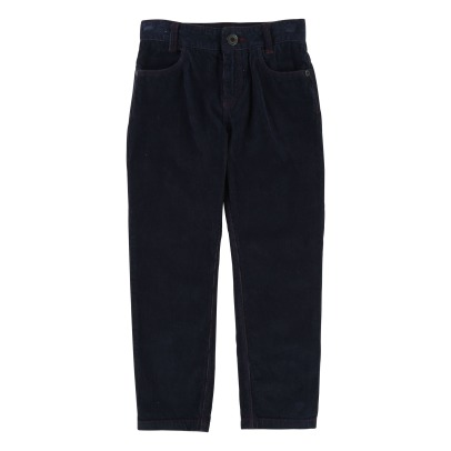Little Marc Jacobs Striped Velvet Slim Trousers -product