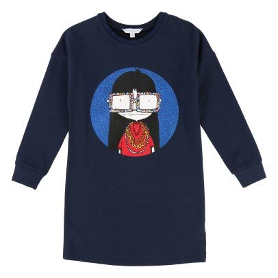 b83fbdc5a0c0 Embroided Lurex Cardigan Midnight blue Little Marc Jacobs Fashion