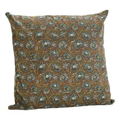 Madam Stoltz Cotton Floral Print Cushion-listing