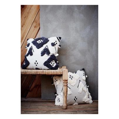 kissen lina mit punkten pfauenblau la cerise sur le g teau. Black Bedroom Furniture Sets. Home Design Ideas