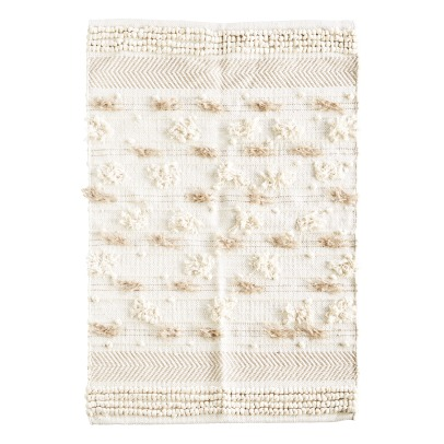 Madam Stoltz Chindi Cotton and Pompom Rug -listing