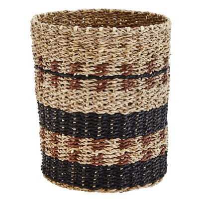 Madam Stoltz Striped Seagrass Basket -listing