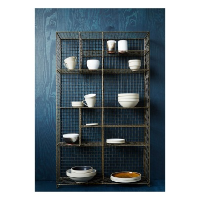 Madam Stoltz Metallic Fenced Bookcase -listing