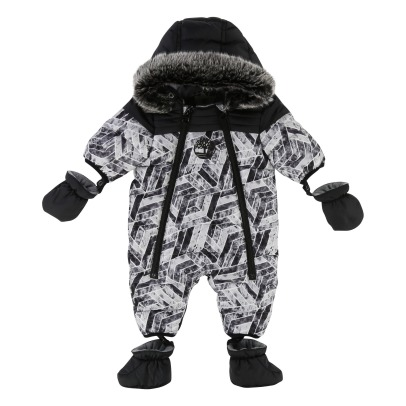 Timberland Fleece Lining Printed Snowsuit with Removable Hoodie -listing