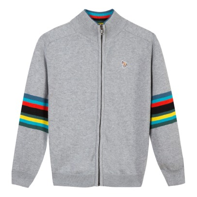 Paul Smith Junior Cardigan Laine Zèbre Selim-listing