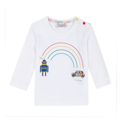 Paul Smith Junior T-Shirt Arcobaleno Patch Mini Santo -listing