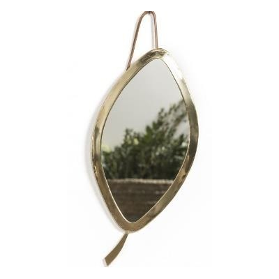 Smallable Home Leaf Brass Mirror-listing