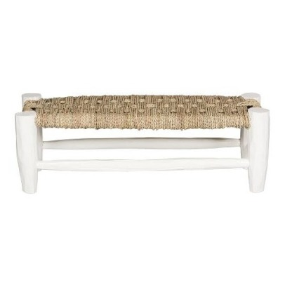 Smallable Home Palm Leaf Wooden Bench L70cmxH23cm-listing