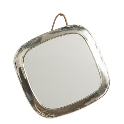 Smallable Home Rounded Square Nickel Silver Mirror-listing