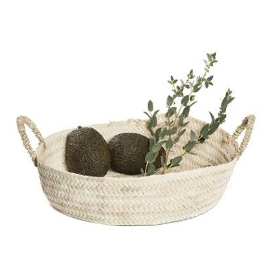 Smallable Home Palm Leaf Round Basket-listing